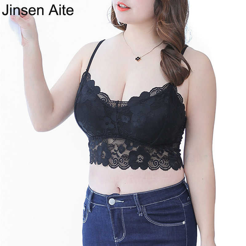 f88bae28a0ae8 Jinsen Aite Plus Size 2 Pcs Sexy Strapless Bra for Women Lace Sling Wrap Tube  Top