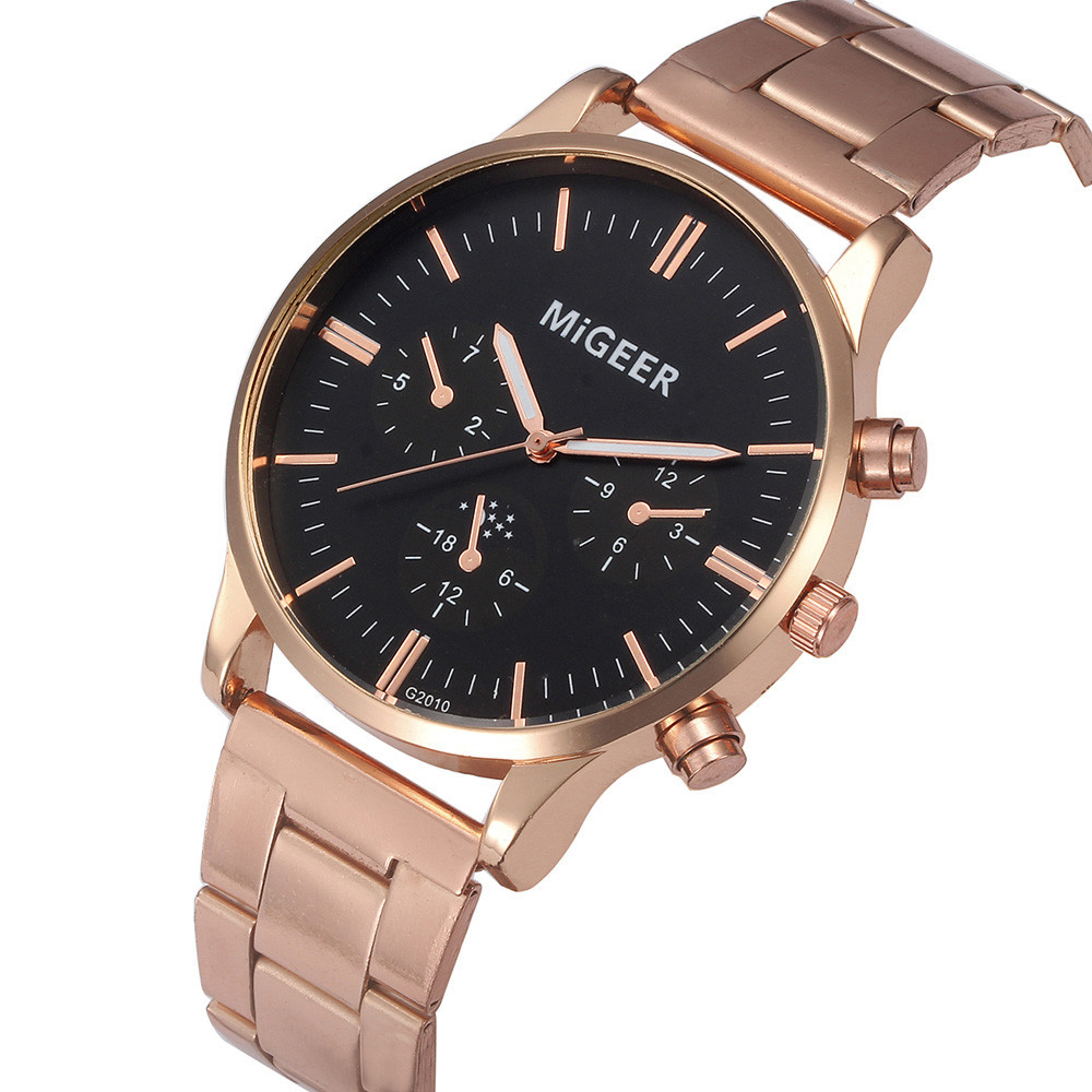 Man Wrist Watch Crystal Stainless Steel Analog Quartz relogio masculino men watch metal man watches