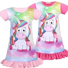 Baby Girl Dress Unicorn Clothing Children Costume Princess Party Chinese style Dress kid Clothes 6457