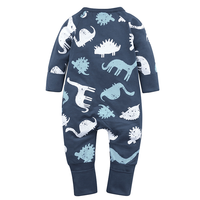 Cartoon Dinosaur Baby Overall