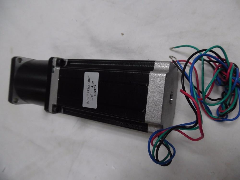 цена на NEMA23 Planetary Reducer Stepper Motor Ratio1:20 4.2A 3NM 429oz-in L 112mm Marking Machine