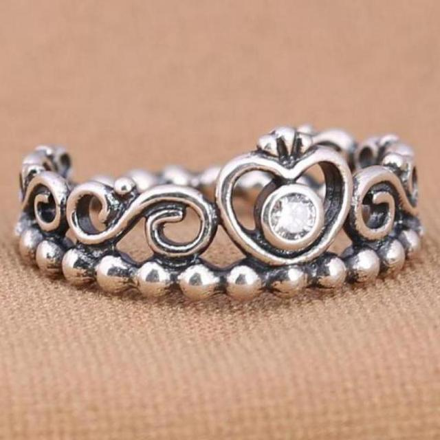 925 Sterling Silver Ring Crown Ring 3
