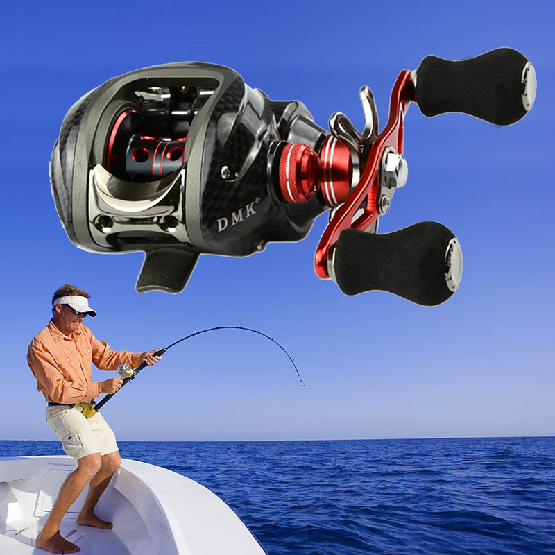 Left Hand <font><b>Fishing</b></font> Reel 12B+RB 6.3:1 Bait Casting <font><b>Fishing</b></font> Reels Saltwater Practical Spinning Fly Reel <font><b>Fishing</b></font> Tackle Tools