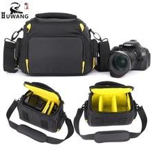 HUWANG 2018 High Quality Waterproof Camera Bag For Canon 1300D 1100D 1200D 60D 750D Camera Fotografica Canon Dsrl Nikon Bag Case