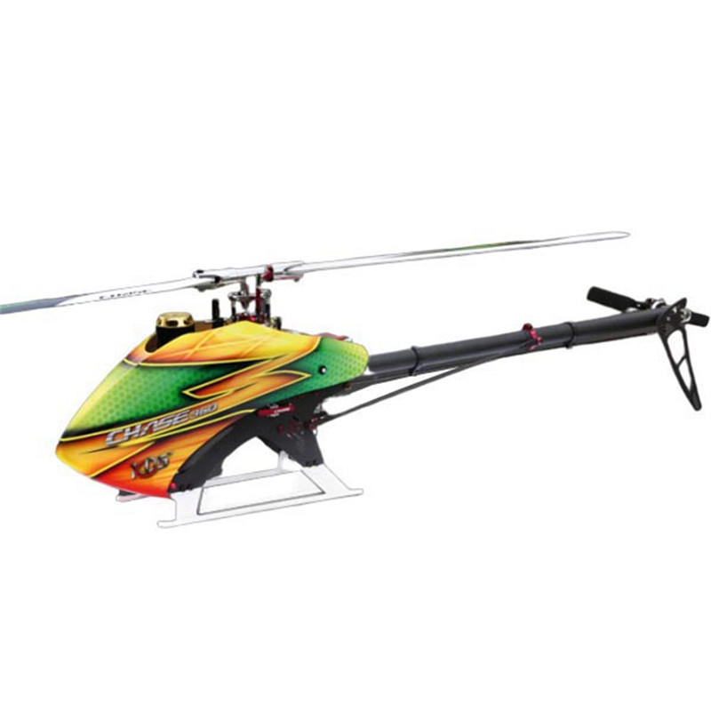 KDS Chase' 360 V2 6CH 3D Flying Flybarless RC Helicopter Kit Only Helicopter Body Diy RC Helicopters