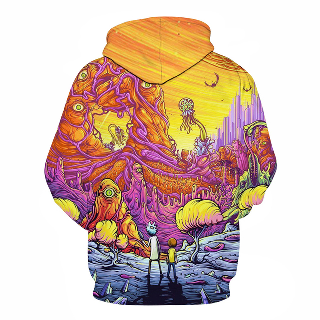 Rick and Morty 3D Design Hoodie 1