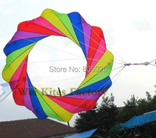 gratis verzending hoge kwaliteit 2m kite windsocks zachte kite outdoor speelgoed power kite wei kite fabriek nylon ripstop print kitesurfen