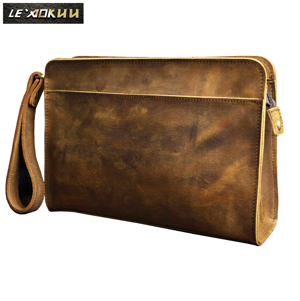 Quality Leather Fashion Male Design Chain Zipper Pocket Organizer Wallet Clutch bag 8 Tablet Cross body Shoulder Bag Men 2753Quality Leather Fashion Male Design Chain Zipper Pocket Organizer Wallet Clutch bag 8 Tablet Cross body Shoulder Bag Men 2753