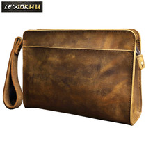 Quality Leather Fashion Male Design Chain Zipper Pocket Organizer Wallet Clutch