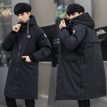 Fashion Mens Winter Jacket Brand Men Long Parkas 2019 New Padded Cotton Male Hooded Coat Plus Size 5XL