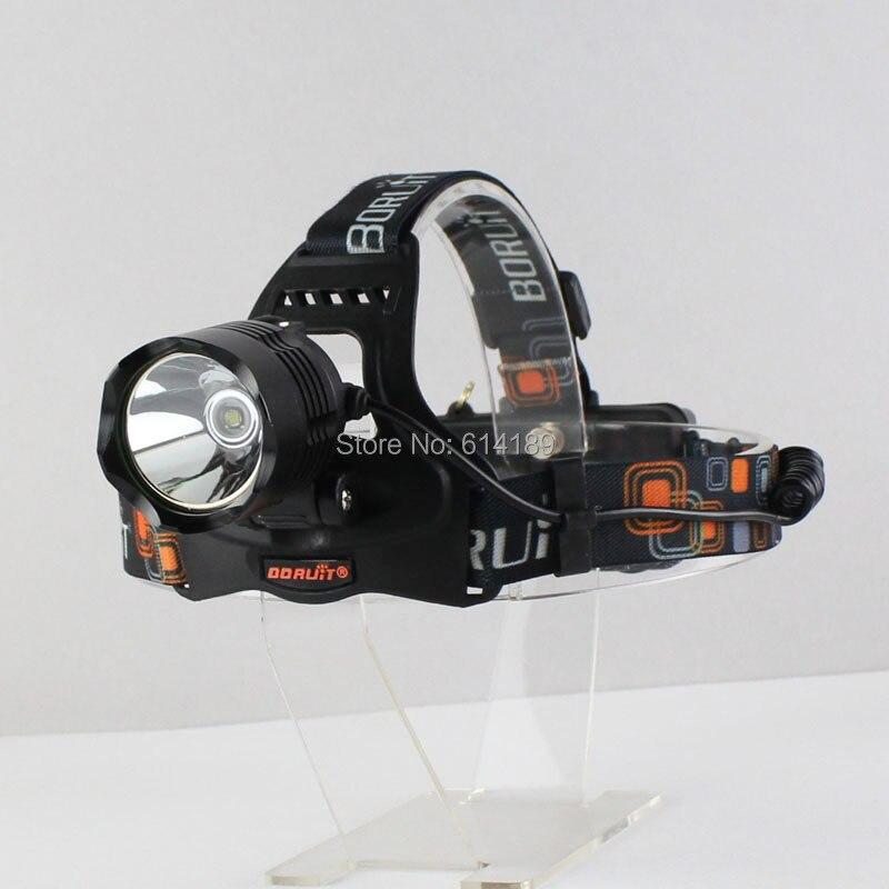 BORUIT RJ-2158 CREE XM-L2 1200 Lumens 5-Mode USB Rechargeable LED Headlamp (2x18650)