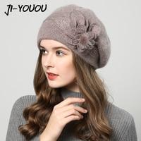 2017 Winter Hats For Women Hat Berets With Balaclava Women S Cap Gorros Rabbit Fur Hats