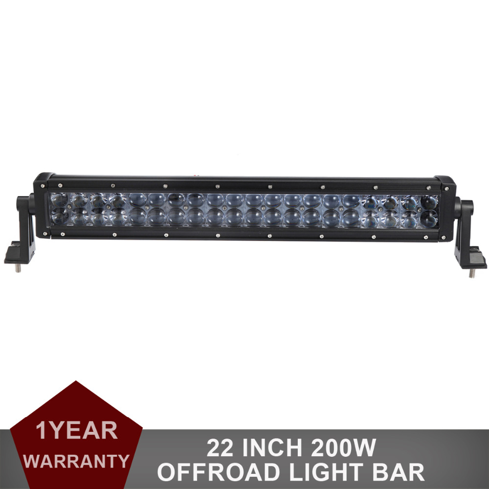 22'' 200W Offroad LED Light Bar Auto Truck Trailer SUV Camper Wagon ATV 4X4 4WD AWD Car Pickup Driving Headlight Combo 12V 24V 50 offroad 324w led light bar bumper roof styling refit headlight 12v 24v car truck suv 4x4 trailer wagon camper pickup lamp