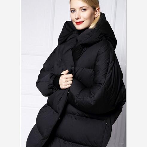 nueva llegada de la manera outwear abrigo de invierno delgado medio-largo de al