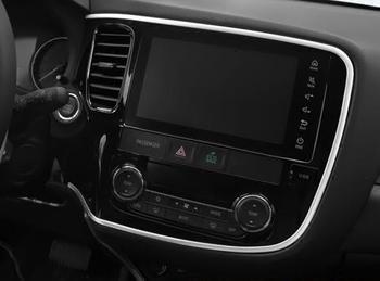 Accessoires de Chrome d'abs pour Mitsubishi Outlander 2015 2016 2017 garniture de couverture de cadre de bande de décoration de Console de voiture