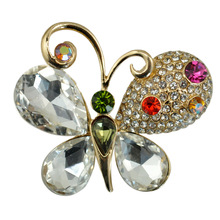 Butterfly Brooch Alloy Animal Corsage Stone Korean Fashion Jewelry Cute Classic Coat Scarf Accessories Wholesale Factory Direct creativity fashion animal alloy coat cartoon brooch