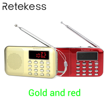 цена на RETEKESS PR11 Radio Receiver Portable FM AM 2 Band Digital Mini Radio Pocket With USB MP3 Player Support TF Card USB Disk F9210J