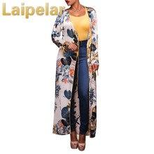 Laipelar 2018 Fashion Long Sleeve Ethnic Floral Print White Shirt Women Elegant Summer Tops Kimono Beach Tunic Cover Up Blusas ethnic floral print half sleeve short kimono fo women