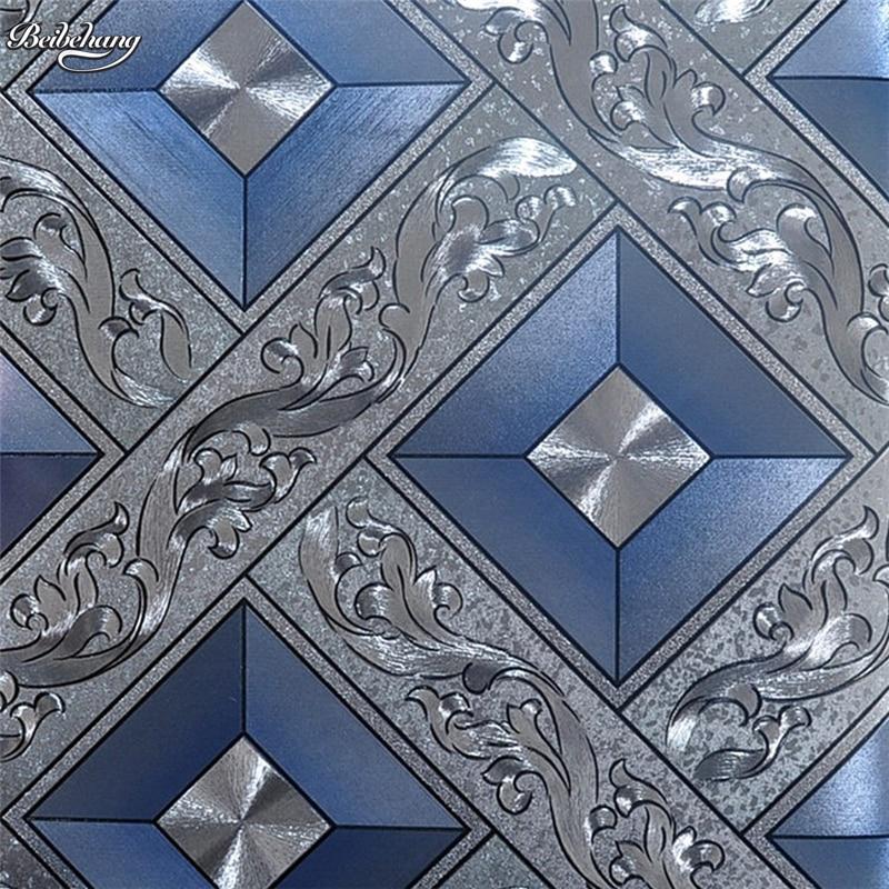 Beibehang moderne classique luxe papier peint lancé or poudre feuille moule mur PVC papier peint KTV mur décoration de la maison
