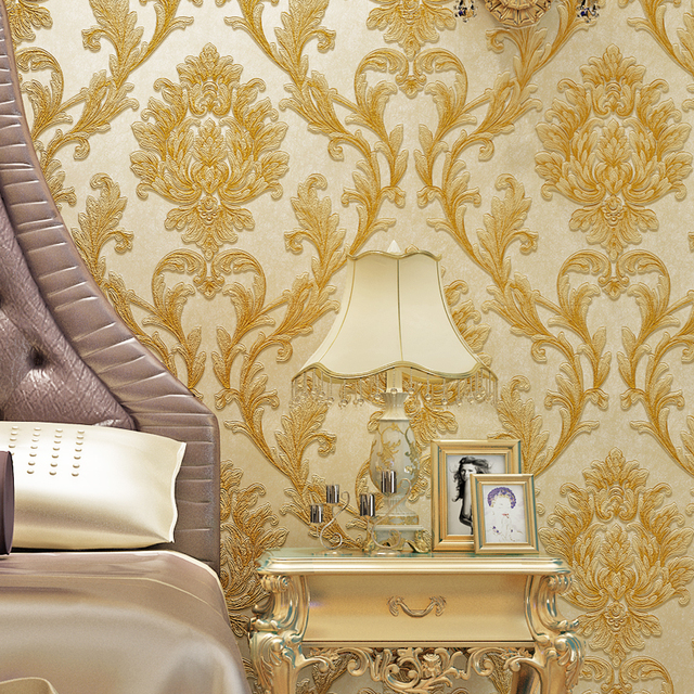 Gut Luxury Fashion 3d Three Dimensional Sculpture Non Woven Wallpaper Vintage  Wall Wallpaper