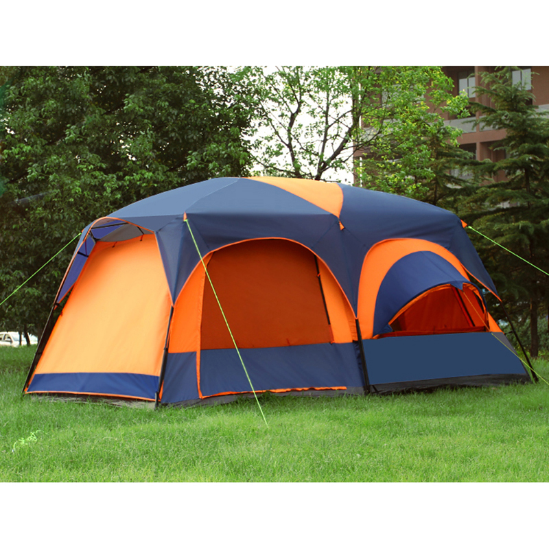 August One Living Room Two Bedroom Ultralarge Double Layer Waterproof Family Party Camping Tent Barraca Large
