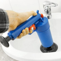 Air Drain Blaster Pressure Pump Cleaner Toilet Sink Plunger Pipe Tool 4*Suckers