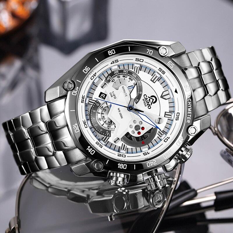 CAINO hommes multi fonction sport montres hommes de luxe marque étanche analogique Quartz montre bracelet lumineux main Relogio Masculino-in Montres sport from Montres    1