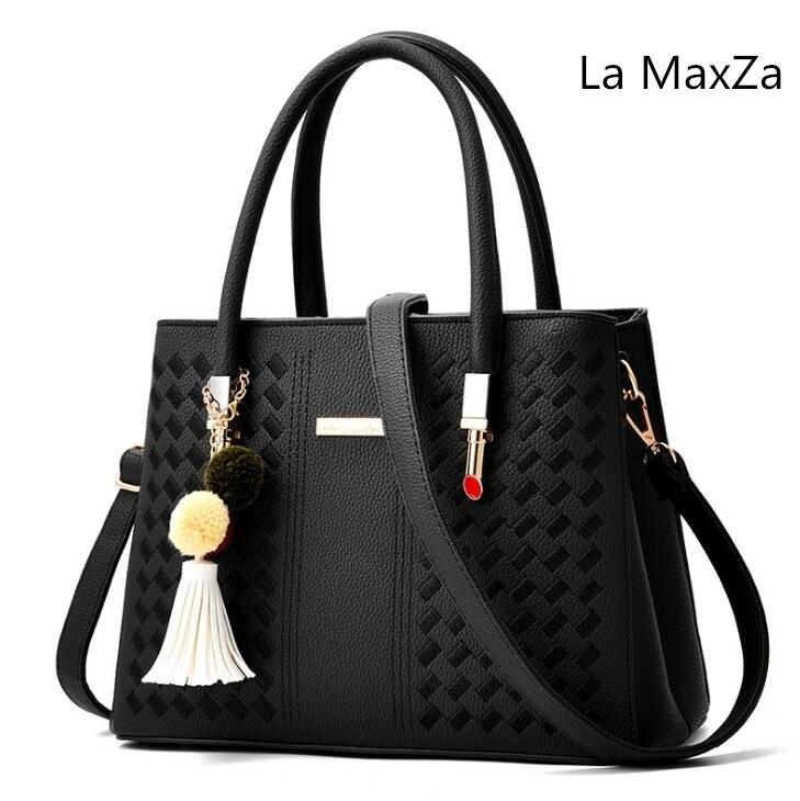 La MaxZa 2018 Nova bolsa Pingente de Borla Sacos de Ombro saco Sacos de Moda Mensageiro