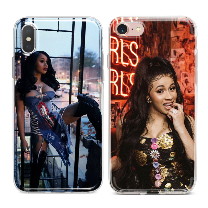 Fitted Cases Cardi B Rapper Hiphop Soft Silicone Phone Case Cover Shell For Apple Iphone 5 5s Se 6 6s 7 8 Plus X Xr Xs Max At All Costs Phone Bags & Cases