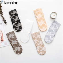 Women Fashion Socks 1 Pair  2019 Spring Summer Mesh Cotton Breathable Solid Lace Thin Casual Lady