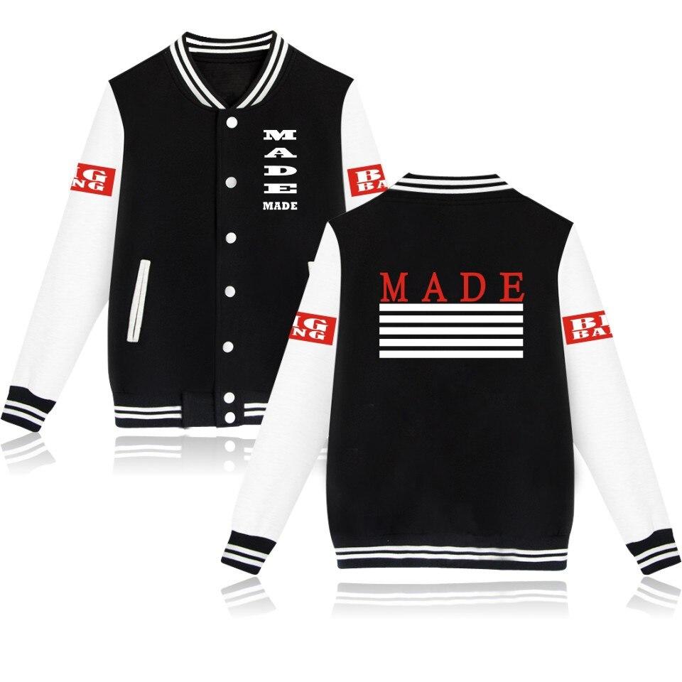 Men's Clothing Bigbang Made Jacket For Men Baseball K-pop Gd Concert Sweatshirts Long Sleeve Korea Women Bomber Jacket Bigbang Made Jackets