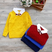 Hot Winter Children Clothing Unisex Kids Fashion Thick Knitted Turtleneck Sweater Coat Baby Boys Girls Sweater