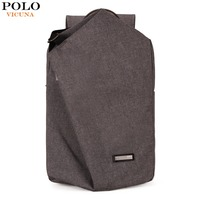 VICUNA POLO Casual Canvas Men Laptop Backpack With Metal Handle Large Capacity Double Layer Men School