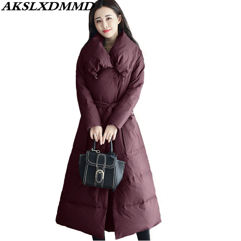 2019 New Hot Women Winter Cotton Coat Fashion Solid Mid-Long   Parkas   Loose Large Size Outerwear Warm Winter Women Jacket CW020