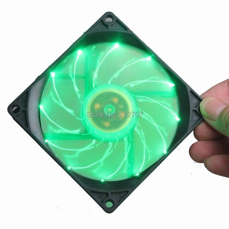 92mm led fan green 4