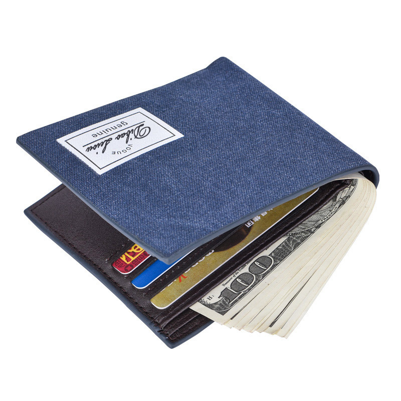 Men's Canvas Wallet Male Famous Brand Slim Leather Wallets Thin Money Dollar Card Holder Purses for Men Free Shipping hot sale leather men s wallets famous brand casual short purses male small wallets cash card holder high quality money bags 2017