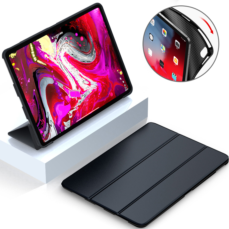 Case For Apple IPad Pro 11 2018 Funda Smart Leather Magnetic Stand TPU Soft Silicone Cover For IPad Pro 10.5 2017 Pro 9.7 2016