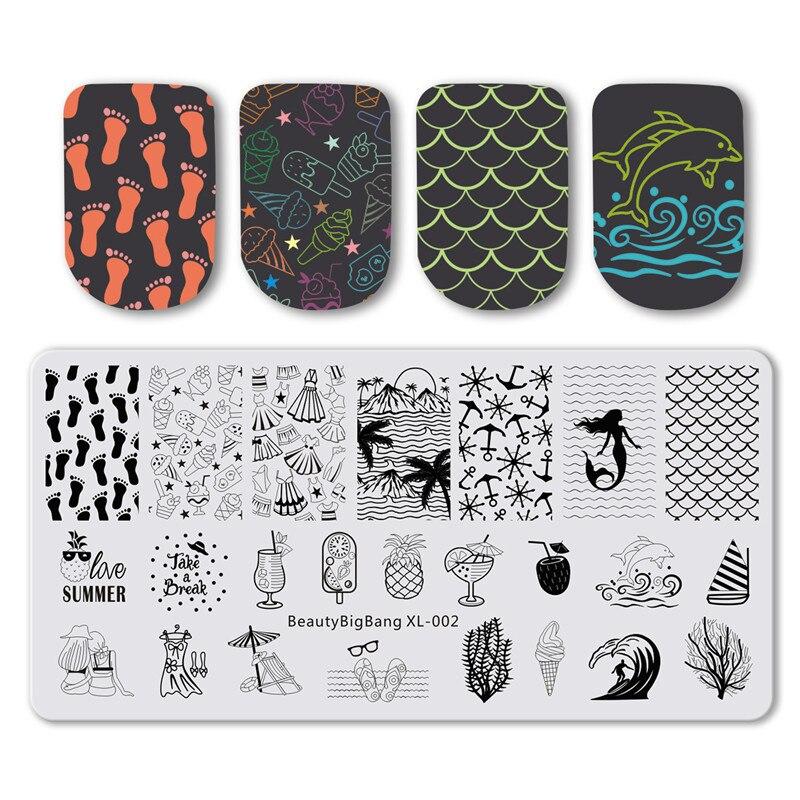 BeautyBigBang штамповочная пластина для ногтей, штамповочная пластина 2019, геометрические пластины для штамповки ногтей, шаблон для лака для ногте...