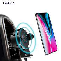 Original ROCK 360 Degree Rotation Qi Wireless Car Charger Phone Holder With LED Indicator For iPhone X S8