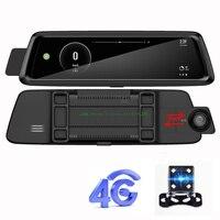Car DVR Rearview Mirror Camera 4G ADAS 9.88 Android 5.1 GPS BT Dash Cam Registrar Video Recorder with two cameras
