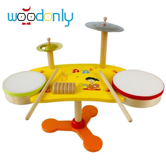 juguetes para nios drum set de musicales juguetes educativos de madera para nios juego de