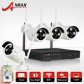 1 TB HDD CCTV Sistema 4CH H.264 NVR Sem Fio de Vídeo de Segurança gravador de P2P 1.0MP IR Ao Ar Livre Câmera IP WIFI 720 P Vigilância câmera