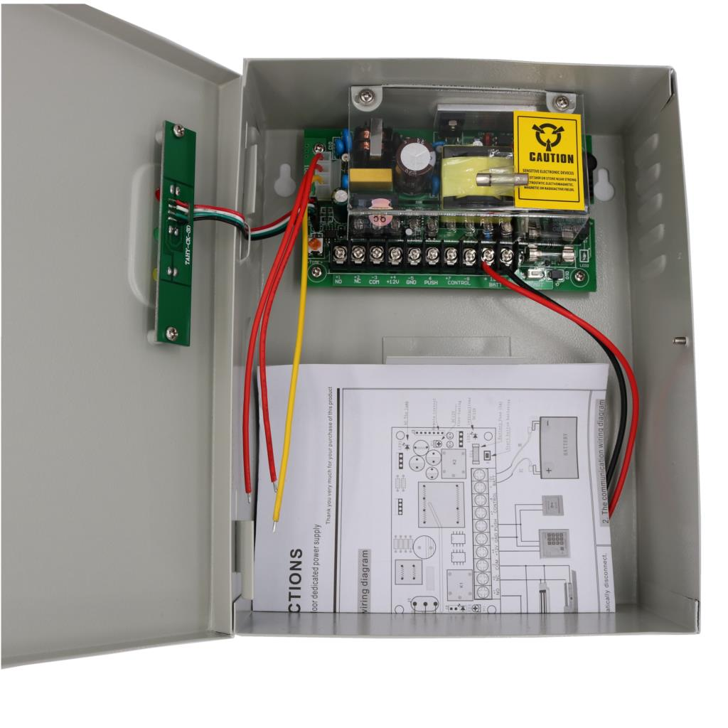 12v 5a universal power supply for door access control system with backup battery interface [ 1024 x 1024 Pixel ]