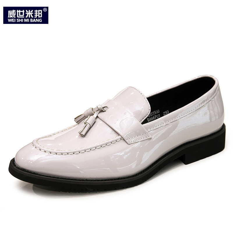 New Arrival Tassel Loafer Shoes Men White Color Slip On Driving Car Shoes Autumn Fringe Outdoor Boys Casual Shoes-in Men's Casual Shoes from Shoes    1