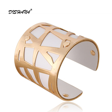 Fashion Cuff Bangles For Women Manchette jewellery Girl Gold Color with Colorful