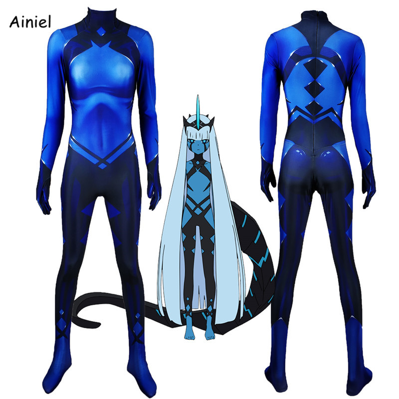 Anime DARLING In The FRANXX Code:001 Cosplay Costume Spandex Zentai Adult Kids Halloween Costume Set for Men Woman Boys Girls