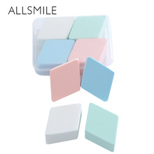 ALLSMILE 4Pcs colorful Soft Beauty Makeup puff Blender Face Sponge Flawless Smooth Powder Puff Cosmetic tool packed in box