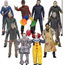NECA Friday The 13th 3D Parte 3 5 Jason Chainsaw Leatherface Final Michael Myers Pennywise Freddy Krueger Figura de Ação Coringa(China)