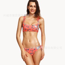 Sexy Micro Bikinis Women Bikini 2017 Swimsuit Low Waist Bathing Suit Push Up Swimming Suit Beach Swimwear Set Print Red