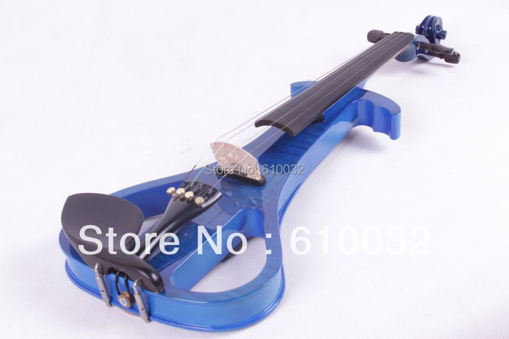4/4 Electric Violin Solid wood   19--29#  blue  color  4string 4 4 electric violin solid wood 6 18 silvery dark blue color 4 string
